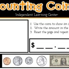 Interactive Whiteboard Counting Coins Learning Center (Pro
