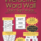 Interactive Word Wall-Dolch Sight Words (Aligns with Common Core)
