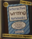 Interactive Writing Notebooks ~ HARD COPY Spiral Bound Notebook