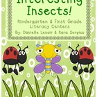 Interesting Insects: Insect Themed Literacy Activities