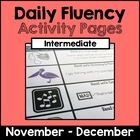 "Intermediate ""Daily Fluency"" Activity Pack (November - December)"