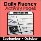 "Intermediate ""Daily Fluency"" Activity Pack (September - October)"