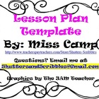 Intermediate Lesson Plan Template