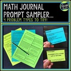 Intermediate Math Journal Prompts:  Set 1