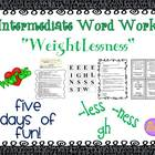 """Word Work and Vocabulary 5-Day Intermediate Unit """"WEIGHTLESSNESS"""""""