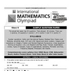 International Mathmatics Olompiad Test Examination Questio