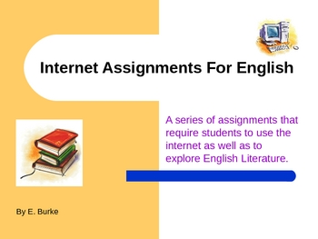 Internet Assignments For English