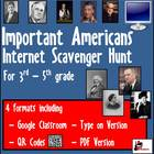 Internet Scavenger Hunt-Intermediate Grades-Amazing Americans