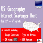 Internet Scavenger Hunt - Intermediate Grades - Geographic