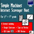 Internet Scavenger Hunt - Fourth Grade Simple Machines