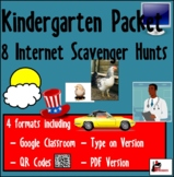 Internet Scavenger Hunt Packet - Kindergarten
