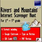 Internet Scavenger Hunt - Third Grade Rivers &amp; Mountains o