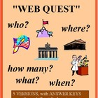 Internet WORLD HISTORY Treasure Hunts