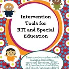 Intervention Tools for RTI and Special Education