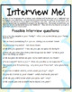 Interview Me! a listening, speaking & shared writing activity