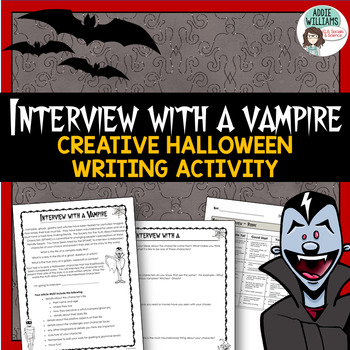 Halloween Writing Activity - Interview With a Vampire