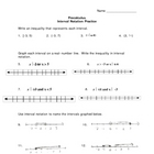 Inteval notation worksheet