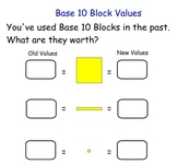 Intro to Adding and Subtracting Decimals with Base 10 Blocks