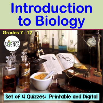 Intro to Biology: Scientific Method, Microscope Set of 4 Quizzes