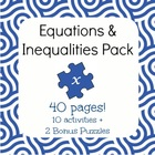 Intro to Equations & Inequalities Bundle - 10 activities,