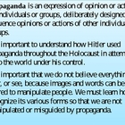 Intro to Propaganda Powerpoint (Holocaust Tie-In)