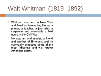 Intro to Whitman