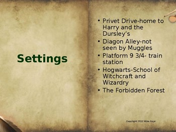Introduction Powerpoint to Harry Potter and the Sorcerers Stone