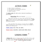 Introduction to Action, Linking, and Helping Verbs