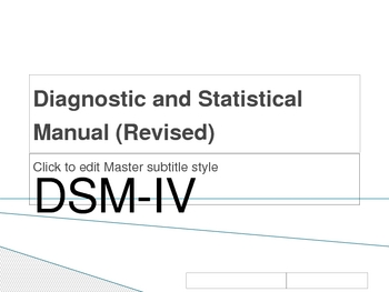 Introduction of DSM-IV PowerPoint