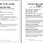 Introduction to Biology Class and Class Rules