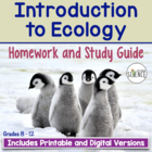 Introduction to Ecology Homework /Study Guide