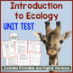 Introduction to Ecology Unit Test