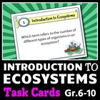 Introduction to Ecosystems - Task Cards