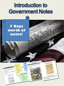 Introduction to Government Notes