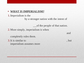 Introduction to Imperialism Power Point