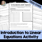 Introduction to Linear Equations Exploration Activity
