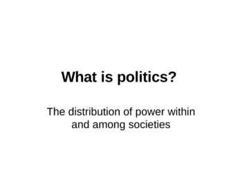 Introduction to Political Science-Comparative Politics