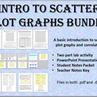 Introduction to Scatter Plot Graphs Bundle - Lab, Notes, P