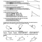 Introduction to Trigonometry worksheet - with Answer Key