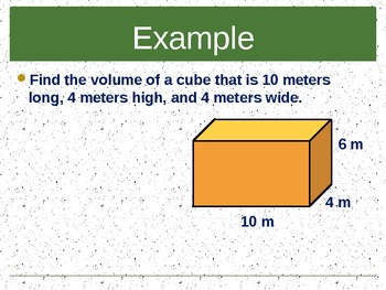 Introduction to Volume of a Cube or Prism