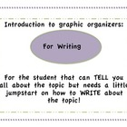 Introduction to graphic organizers for Writing: 1st and 2nd Grade