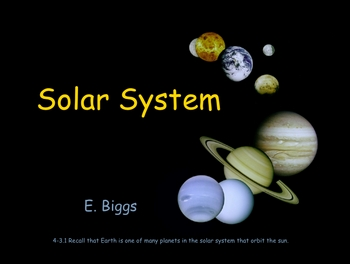 Introduction to our Solar System Smartboard