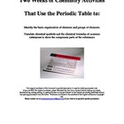Introduction to the Periodic Table Activities