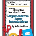 Introductions for Persuasive Argumentative Writing Game