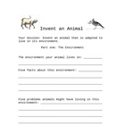 Invent an Animal packet