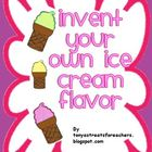 Invent your own ice cream flavor