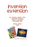 Inventions Activity Packet: home project or centers