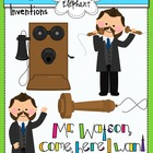 Inventions of Alexander Graham Bell Clip Art