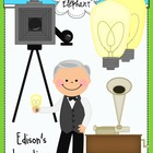 Inventions of Thomas Edison Clip Art
