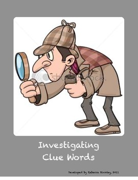 Investigating Clue Words Mathematics Game